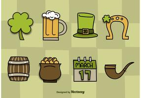 St. Patrick's Day Vector Icons