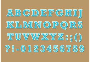 Serif Retro Type Vector