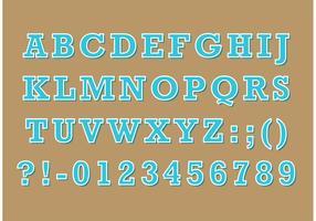 Serif Retro Type Vector