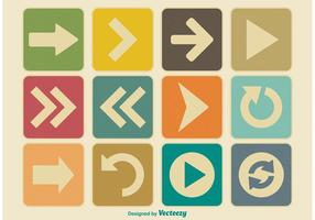 Vintage Arrow Icon Set