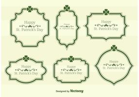 St. Patrick's Day Vector Text Frames