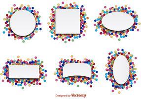 Confetti Party Label Vectors