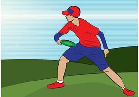 Frisbee Man Vector