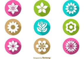 Vector Floral Flat Icons