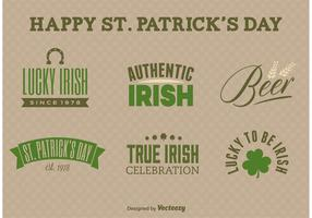 St. Patrick's Day Label Vectors