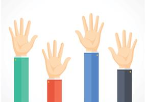 Free Business Hands Reaching Vector