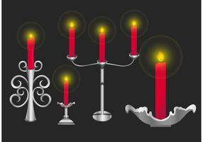 Vector Silver Candlesticks Holder