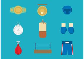 Old Time Boxing Vector Icons