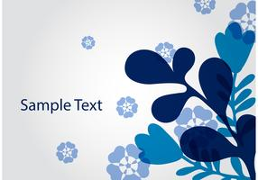 Blue Abstract Floral Vector Background