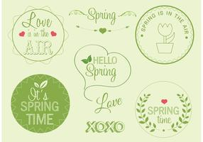 Free Vector Spring Labels