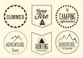 Free Vector Adventure Labels Set