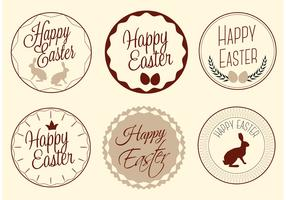 Free Vector Happy Easter Labels
