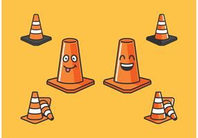 Orange Cone Vectors Icons Free