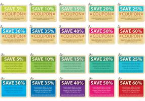 Scissors Coupon Vector Collection