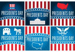 Presidents Day Vector Cards
