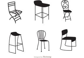 Restaurant Black Chair Vectors