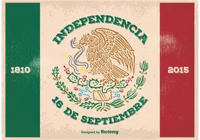 Vintage Mexican Independence Illustration