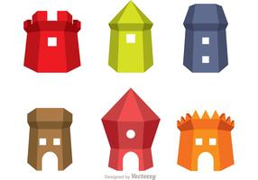 Fort Icons Vector