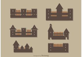 Simple Castle Icons Vector