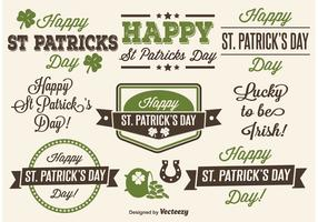 Saint Patrick's Day Typographic labels