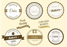 Free Vector Bakery Labels