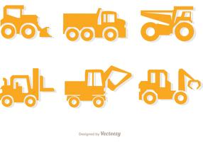 Simple Yellow Dump Trucks Vector Pack