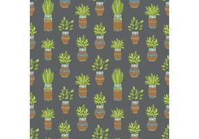 Free Mason Jar Plant Vector Pattern