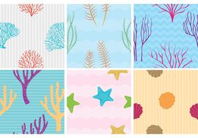 Coral Reef with Fish Vector Patterns