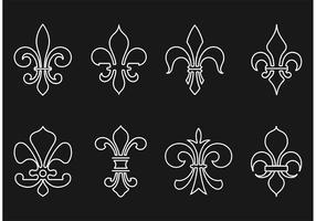 Free Fleur De Lis Outline Vector Pack