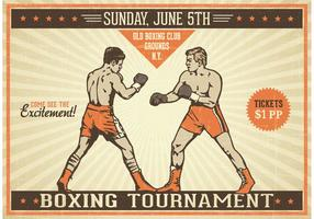 Free Boxing Vintage Vector Poster