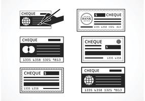 Free Black Blank Check Vector Set