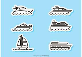 Ship And Boat Sticker Vectors