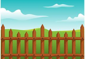 Wooden Picket Fence Vector