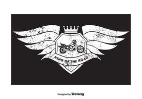 Grunge Style Motorcycle T Shirt Design
