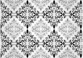 Floral Damask Vector Pattern