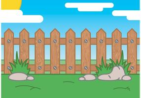 Picket Fence Valley Cartoon Vector
