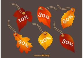 Fall Leaves Vector Price Tags
