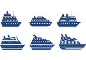 Cruise Liner Icon Vectors