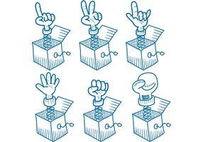 Sketchy Jack in The Box Vectors