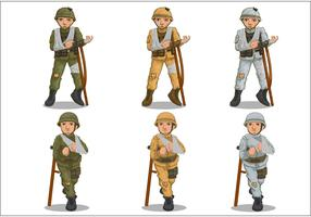 Wounded Soldier Vectors