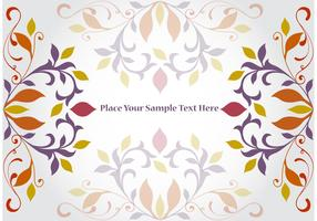 Floral Corner Vector Background