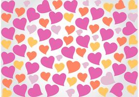 Fun Heart Background Vector