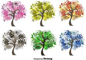 Decorative Seasonal Tree Vectors