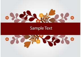 Floral Banner Vector Background