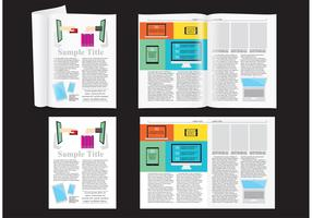 E-shop Magazine Layout Vector