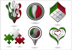 Abstract Icon Vectors of Italian Themes