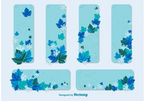 Winter Card Vector Templates