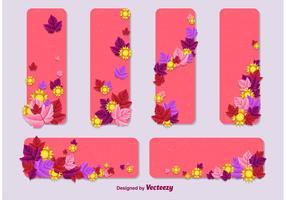 Summer - Spring Vector Card Templates