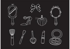 Free Drawn Vector Beauty Set