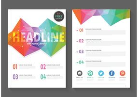 Free Geometric Magazine Layout Vector